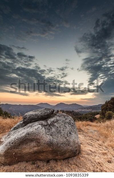 Sunset just outside of King's Canyon National Park in California