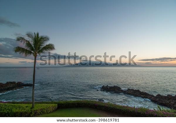 Sunset Kaanapali Beach Maui Hawaii Stock Photo Edit Now
