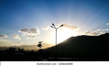 Sunset, Kabul, Afghanistan, Kabul mountain
