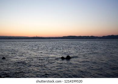 Sunset of Kagoshima Japan