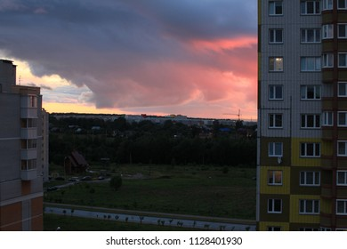 sunset kaluga town clouds