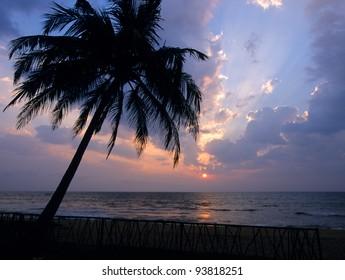Sunset at Kalutara  beach, Sri Lanka