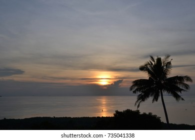 The sunset in Karimun Jawa in the north of Java Island. It has much more beautiful beaches than Bali!