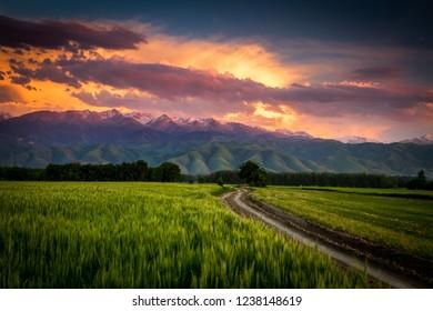 Sunset in Kazakhstan