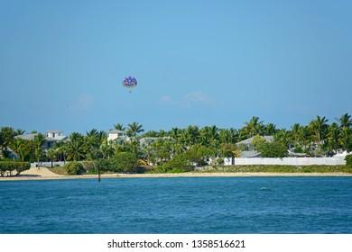 Sunset Key next to Key West in Florida Keys, Florida, USA.
