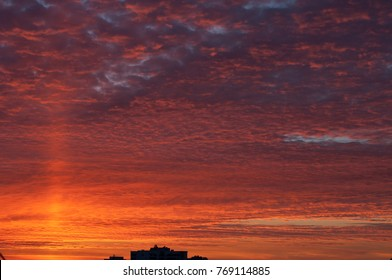 Sunset. Kharkov view