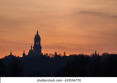 Sunset in Kiev, Saint Sophia's Cathedral.