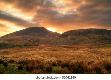 Sunset in Kilarney mountains