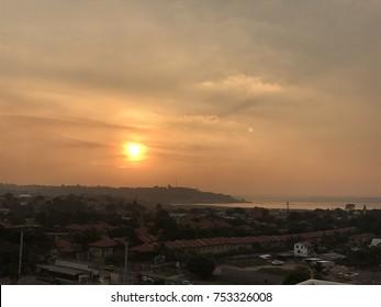 Sunset, Kinshasa, DR Congo