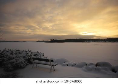 Sunset in Kivenlahti, Espoo