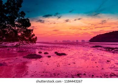 Sunset at Koh Yaoh Noi, Thailand