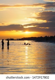 Sunset at Kota Beach on Bantayan Island Cebu Phillipines