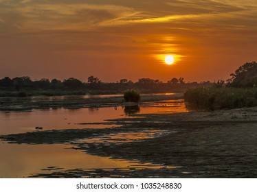Sunset in the kruger park by lower sabie