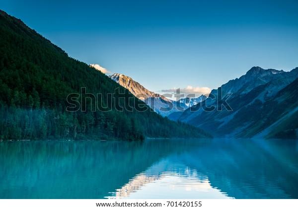 sunset-kucherla-mountain-lake-reflection