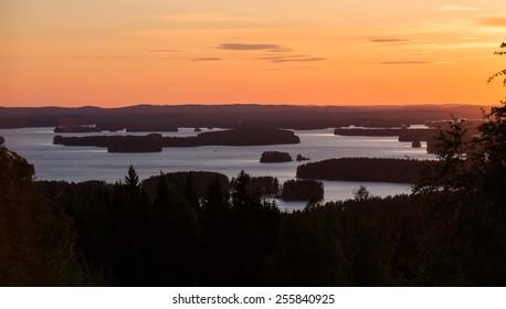 Sunset in Kuopio, Finland