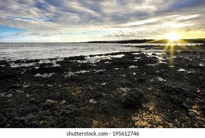 sunset at la perouse bay, Maui, Hawaii