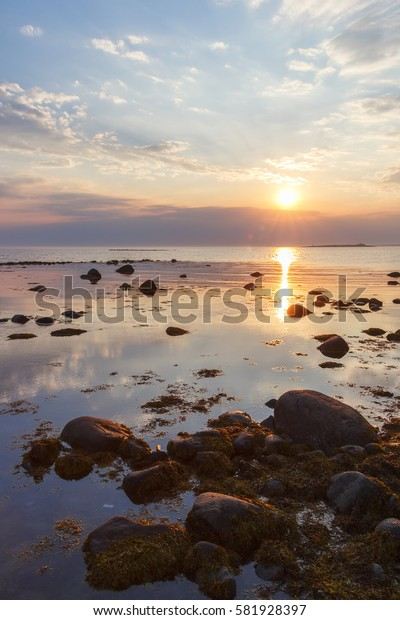 Sunset at Labyrinths Cape of Greater Solovetsky Island
