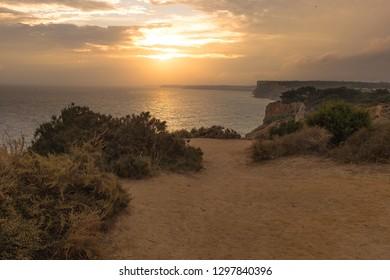 Sunset in  Lagos, Algarve