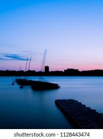 Sunset at lake Bde Maka Ska
