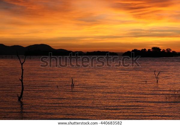 Sunset at Lake Kariba, Africa