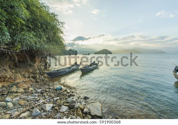 Sunset Lake Mountains
