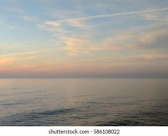 Sunset lake ontario