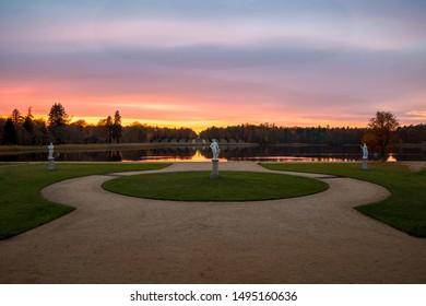 Sunset at the lake in Rheinsberg