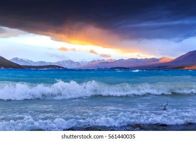 Sunset Lake Tekapo