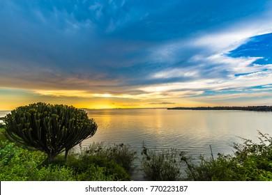 Sunset at Lake Victoria/Kenya