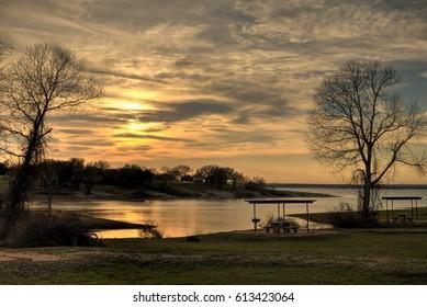 Sunset at Lake Whitney, near Waco Texas