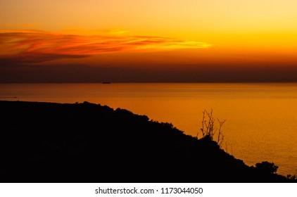 Sunset in Lampedusa - Italy