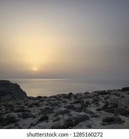Sunset in Lampedusa, Sicilia, Italy.