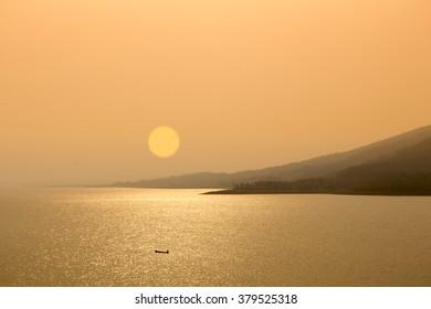 Sunset at Lam-ta-khong Dam , Nakhon Ratchasima , Thailand