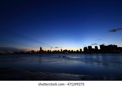 Sunset landscape in Dadaocheng, Taipei, Taiwan