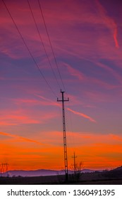 Sunset Landscape at the springtime - Shutterstock ID 1360491395