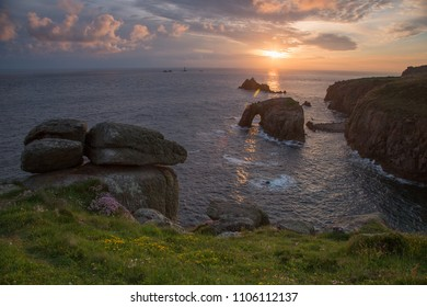 sunset landscapes in cornwall