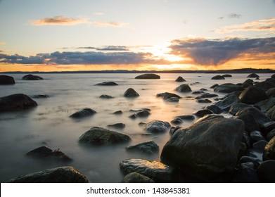 Sunset in Larvik, Norway