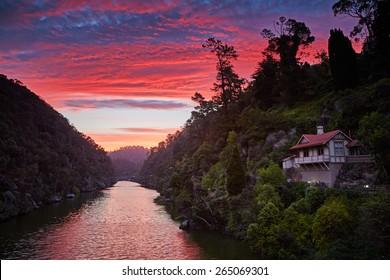 Sunset in Launceston, Tasmania