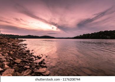 Sunset Laurel Lake Kentucky Corbin