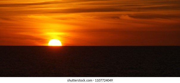 Sunset in Leca da Palmeira beach, Portugal