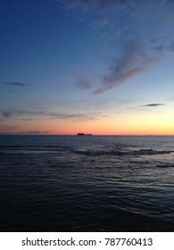 sunset in Leghorn