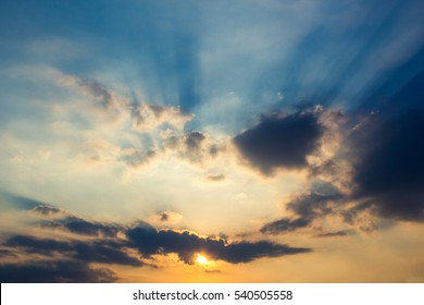 sunset light and cloud