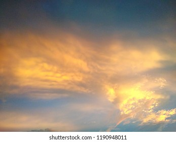 Sunset light effected at clound