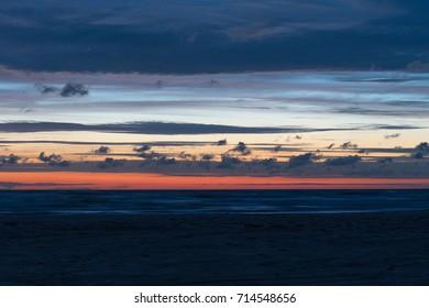 Sunset light on Baltic sea.