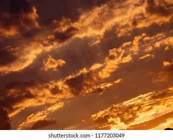 Sunset like a fire