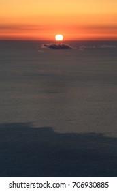 Sunset lipary island, Italy