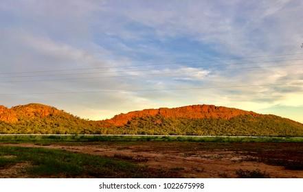 Sunset Lit Hills, Kununurra, Western Australia