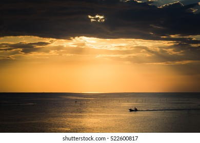 sunset with local fisherman