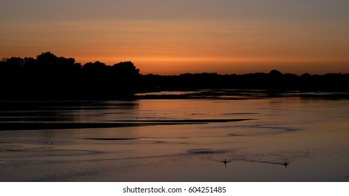 Sunset at the Loire river