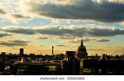 Sunset at London